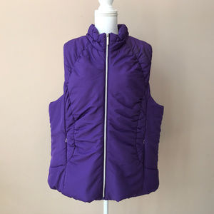NEW Lane Bryant Purple Quilted Filled Vest 18 20